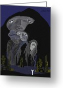 Gimp Greeting Cards -   004 - Arrival of the Gods ....  Greeting Card by Irmgard Schoendorf Welch
