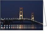 Photograpg Greeting Cards -  Bridge at night Greeting Card by Garry Schmidt