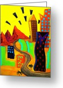 Open Road Painting Greeting Cards -  Go Live Life Greeting Card by Pastor Cindy Wilson