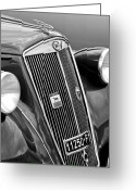 4th Photo Greeting Cards - 1952 Lancia Ardea 4th Series Berlina Grille Emblems Greeting Card by Jill Reger