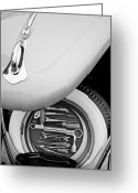 Black And White Photos Greeting Cards - 1956 Volkswagen VW Bug Tool Kit Greeting Card by Jill Reger