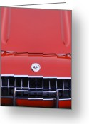 1957 Corvette Greeting Cards - 1957 Chevrolet Corvette Grille Greeting Card by Jill Reger
