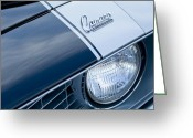 Muscle Car Photo Greeting Cards - 1969 Chevrolet Camaro Z-28 Emblem Greeting Card by Jill Reger