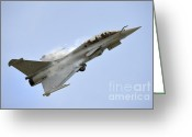 Featured Greeting Cards - A Dassault Rafale Of The French Air Greeting Card by Remo Guidi