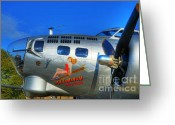 Vintage Aircraft Greeting Cards - A Flying Fortress Greeting Card by Mel Steinhauer
