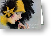 Roaring Twenties Greeting Cards - An Era Greeting Card by Cheryl Young