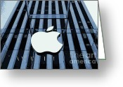 Must See Greeting Cards - Apple in the Big Apple Greeting Card by Allen Beatty