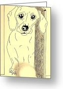 Illustrative Drawings Greeting Cards - Are we going to play or not Greeting Card by Zizi Lagadec