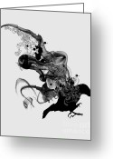 Crow Digital Art Greeting Cards - Ashes to ashes Greeting Card by Budi Satria Kwan