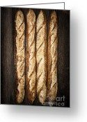 Handmade Greeting Cards - Baguettes Greeting Card by Elena Elisseeva
