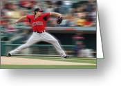 Thomas Fouch Greeting Cards - Baseball Greeting Card by Thomas Fouch