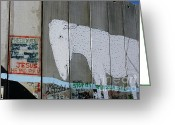 David Birchall Greeting Cards - Bethlehem Separation Wall Greeting Card by David Birchall