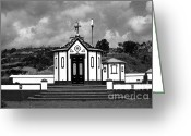 Gaspar Avila Greeting Cards - Chapel in Azores Greeting Card by Gaspar Avila