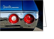 Chevrolet Chevelle Greeting Cards - Chevrolet Chevelle SS Taillight Emblem Greeting Card by Jill Reger