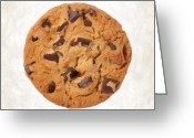 Snack Greeting Cards - Chocolate Chip Cookie  Greeting Card by Danny Smythe
