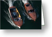 Cousins Greeting Cards - Chris-Craft Cousins Greeting Card by Steven Lapkin