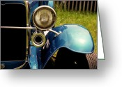 T-bird Greeting Cards - chrome dream 1931 ford model A roadster Greeting Card by David M Davis