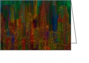 Window Art Digital Art Greeting Cards - Cityscape 5 Greeting Card by Jack Zulli