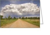 Country Dirt Roads Photo Greeting Cards - Colorado Country Road Stormin Skies Greeting Card by James Bo Insogna