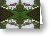 Houses Posters Greeting Cards - Crossroads Greeting Card by Patrick J Murphy