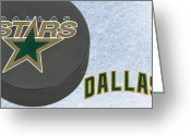 Hockey Stars Greeting Cards - Dallas Stars Greeting Card by Joe Hamilton