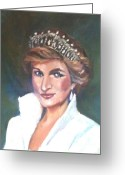 England Diana Greeting Cards - Diana Greeting Card by Tina Swindell