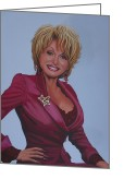 Dolly Parton Greeting Cards - Dolly Parton Greeting Card by Paul Meijering
