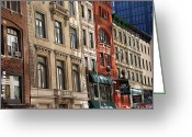 Thomas Fouch Greeting Cards - Downtown Greeting Card by Thomas Fouch