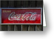 Coke Greeting Cards - Drink Coca Cola Greeting Card by Garry Gay