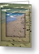 Beach Decor Digital Art Greeting Cards - Elusive Dimensions Greeting Card by Janice Sakry