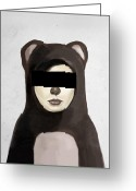 Kid Digital Art Greeting Cards - Fake Bear Greeting Card by Balazs Solti