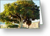 Fig Tree Greeting Cards - Fantastic Fig Greeting Card by Ron Regalado
