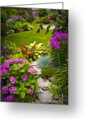 Backyard Greeting Cards - Flower garden Greeting Card by Elena Elisseeva