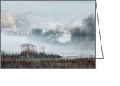 Spring Scenes Greeting Cards - Foggy Morning Greeting Card by Bill  Wakeley