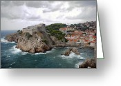 Madeline Ellis Greeting Cards - Fort Lovrijenac - Dubrovnik - Croatia Greeting Card by Madeline Ellis