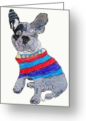 French Bulldog Prints Greeting Cards - French Bulldog  Greeting Card by Brian Buckley