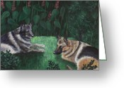 Companions Greeting Cards - Good Friends Greeting Card by Anastasiya Malakhova