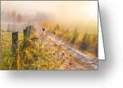 Anne Greeting Cards - Good Morning Farm Greeting Card by Debra and Dave Vanderlaan