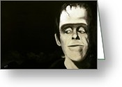 Frankenstein Greeting Cards - Herman Munster Greeting Card by Christopher  Chouinard