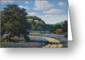 Texas Bluebonnets Greeting Cards - Hill Country Treasures Greeting Card by Kyle Wood