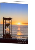 Hour Greeting Cards - Hourglass Sunrise Greeting Card by Colin and Linda McKie