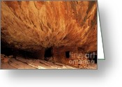 Ancient People Greeting Cards - House On Fire Ruin Greeting Card by Bob Christopher