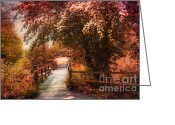 Shade Greeting Cards - In a Park Greeting Card by Svetlana Sewell