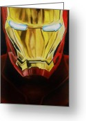 Comic. Marvel Greeting Cards - Iron Man Greeting Card by Brian Broadway