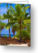 Tropical Island Photo Greeting Cards - Island Greeting Card by Athala Carole Bruckner