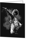 Players Greeting Cards - Jimmy Page Greeting Card by William Walts
