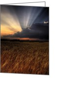Hail Photo Greeting Cards - Kansas Greeting Card by Zach  Roberts