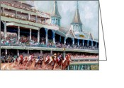 Impressionism Art Greeting Cards - Kentucky Derby Greeting Card by Todd Bandy
