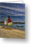 Interface Images Greeting Cards - Koh Samui Beach Greeting Card by David Smith
