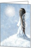 Long Dress Greeting Cards - Little Fairy by Shawna Erback Greeting Card by Shawna Erback
